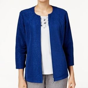 NEW Alfred Dunner Crescent City Textured Jacket